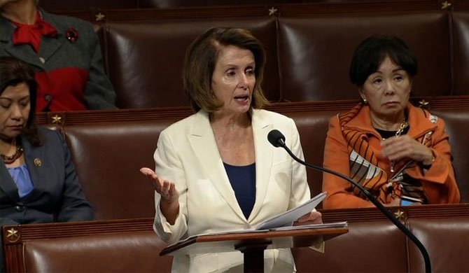 Pelosi sets record with 8-hr speech