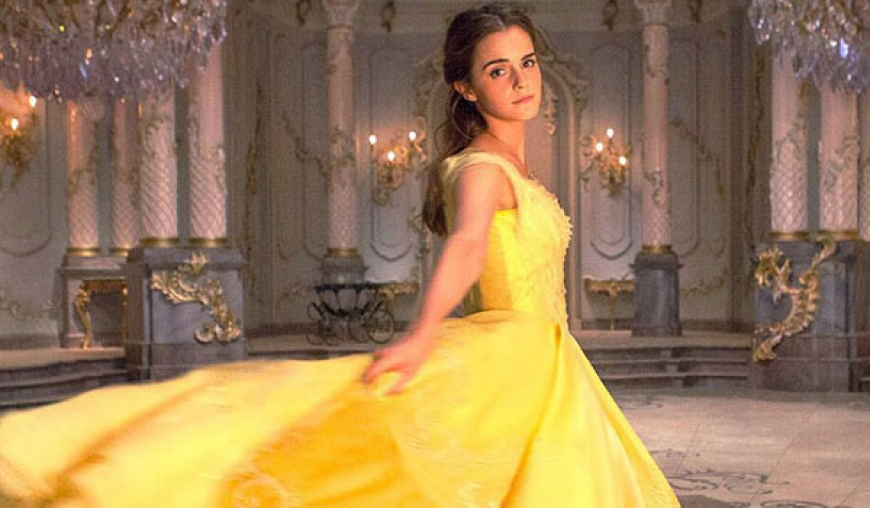 Emma stuns as Belle from Beauty and the Beast