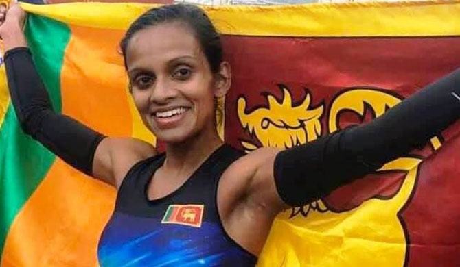 Hiruni sets new national record