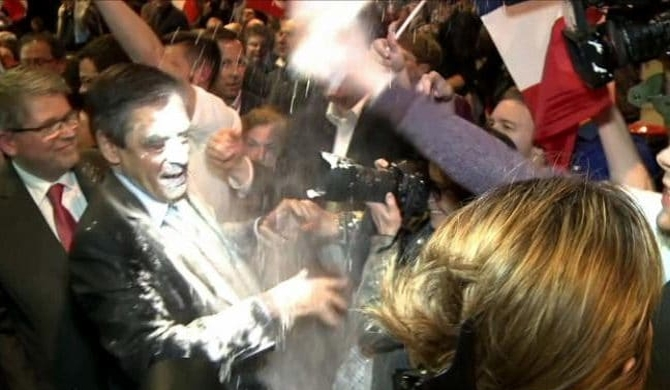 French Presidential hopeful flour-bombed (Pics)