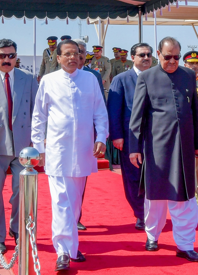 President Sirisena accorded Pakistan's highest salutation