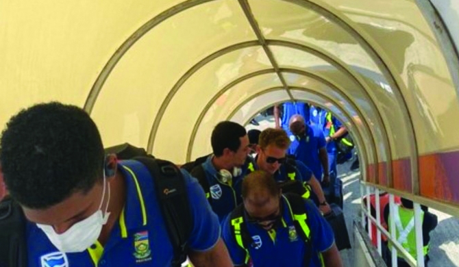 The S. African cricket team in self-quarantine