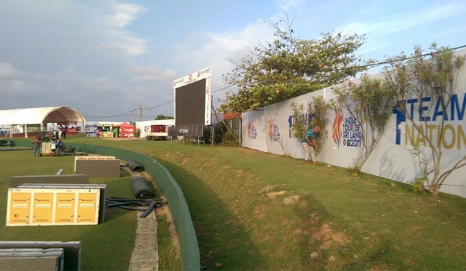 Why was Galle Stadium covered?